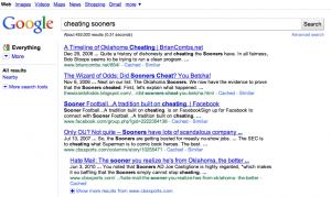 Cheating Sooners on Google