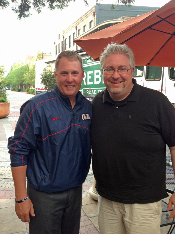 Hugh Freeze and Brian Combs